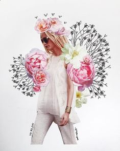 The entire series of flower collages by katy edling / foundbykaty. Collages, Photography Illustration, Photo Illustration, Medical Illustration, Photomontage, Justine Mauvin, Face Collage, Collage Artwork, Collage Ideas