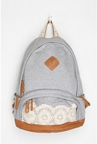 Kimchi Blue Lace & Jersey Backpack from Urban Outfitters. Shop more products from Urban Outfitters on Wanelo. Lace Backpack, Fashion Backpack, Diy Backpack, Puppy Backpack, Backpack Handbags, Mochila Jeans, Mochila Jansport, Diy Inspiration, Stylish Backpacks