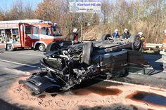 Neuss-Schlicherum – Gegen 12:50 Uhr ereignete sich im Kreuzungsbereich der K30 und K20, in der Ortslage Schlicherum, ein schwerer Verkehrsunfall. Mehrere Personen erlitten Verletzungen und ein Fahrzeug überschlägt sich. Wie es zu dem Verkehrsunfall kommen