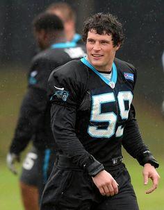 Carolina Panthers linebacker Luke Kuechly during practice on Wednesday, December 2, 2015.