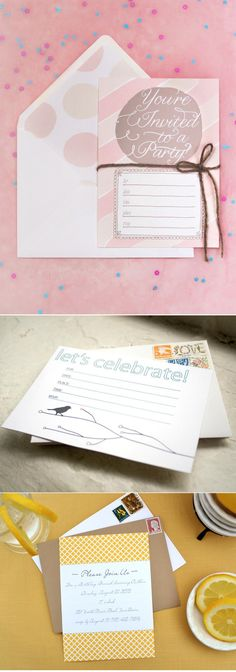 A whole lot of free DIY Invitation Love - Get downloading!