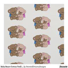 "Baby Bears Cotton Twill (58"" width) Fabric"