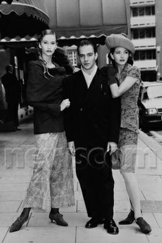 John Galliano with a models -1