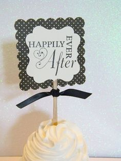 Cupcake Toppers Bridal Shower or Wedding