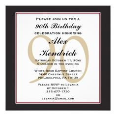 1292 best 90th birthday invitations images on pinterest 90