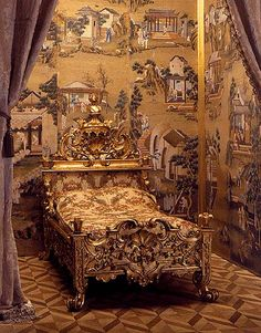 A bed in Peterhof Palace, maybe of Pavel I, the son of Catherine II, the 18th century
