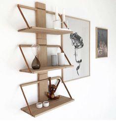 Wood wall hylle, Eik - designerhome.no Shelf Inspiration, Woods, Shelves, Wallet, Furniture, Design, Home Decor, Google, Modern