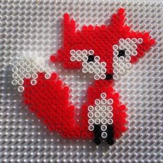 Fox hama beads by anaguzvi