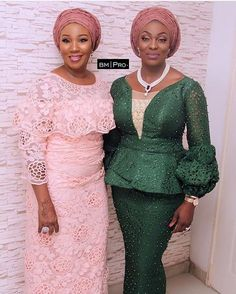 Amplified Look-Book For Your Aso Ebi Outing - Rendy Trendy Nigerian Lace Styles, African Lace Styles, African Lace Dresses, Latest African Fashion Dresses, African Clothes, Lace Dress Styles, Ankara Gown Styles, Latest Lace Styles, African Traditional Dresses