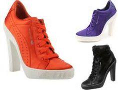 Zapatillas con taco Adidas y Puma