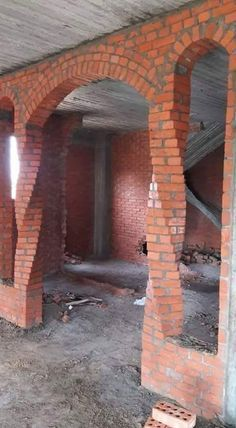 Architecture Discover But maybe aim away from the old brick look if I build it something a bit more neutral in color Brick Design, Door Design, Exterior Design, Brick Architecture, Residential Architecture, House Front Design, Modern House Design, Brick Art, Old Bricks