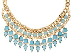 Bijou Brigitte  Necklace - Blue Drops
