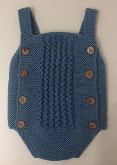 Baby Boy Knitting Patterns, Knitting For Kids, Baby Patterns, Lace Knitting, Knit Crochet, Baby Romper Pattern, Baby Boy Sweater, Knit Baby Dress, Diy Bebe
