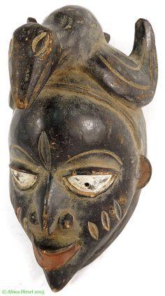 Yoruba Mask with Bird on Top Nigeria Africa - Yoruba - African Masks