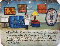 Никто не покупал у художника Педро Масиаса его пейзажи. Он благодарен Святому Михаилу Архангелу, что тот вдохновил его писать картины с ужасными чертями и дьяволом, что оказалось очень выгодно.