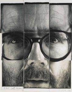 Chuck Close 9-part Self-Portrait with Polaroids