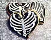 1 Dozen Ribcage Heart Cookies