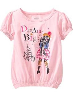 Dream Big Cinch-Waist Graphic Tees for Baby Kids Girls Tops, Kids Outfits Girls, Girl Outfits, Models, Kids Prints, Baby Girl Dresses, Dream Big, Old Navy, Kids Fashion