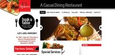 Website our firm designed & developed for a restaurant in Bangalore