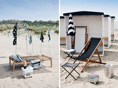 Coastal Style: Outdoor Living in Black & White