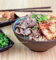 Bulgogi Kimchi Rice Bowl | cHowDivine.com @Gomo | cHowDivine