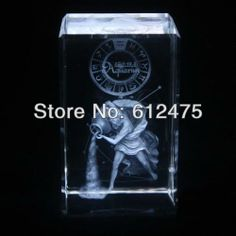 3D laser engraved Crystal figurine Aquarius religious gift,5*5*8cm tourism souvenir gift home decor&birthday gift $29.95