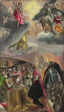 The Adoration of the Name of Jesus, late 1570s | El Greco (1541 - 1614) | The National Gallery, Room 9.