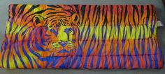 Lisa Frank Tiger Teen Sleeping Slumber Bag 1986 RARE Vintage Colorful Stripes | eBay