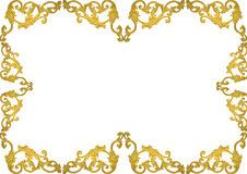 Old Antique Gold Frame Stucco Walls Greek Culture Roman Vintage Style Pattern Line Design For Border Isolated On White Background - Download From Over 67 Million High Quality Stock Photos, Images, Vectors. Sign up for FREE today. Image: 69147149