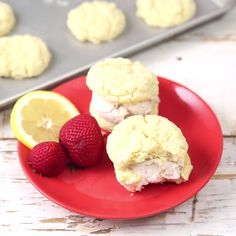 Sweet Strawberry Lemonade but as a dessert sandwich? Gotta give these bright and colorful Ice Cream Cookie Sandwiches a try!