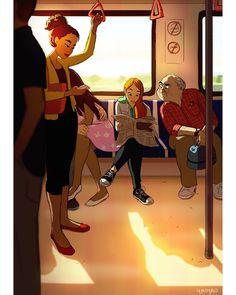"""좋아요 36.3천개, 댓글 133개 - Instagram의 Yaoyao Ma Van As(@yaoyaomva)님: """"Morning commute #dailysketch"""""""