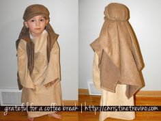 Elijah's been running around the house with an arm rest cover on his head pretending to be Joseph since Sunday. It's adorable, but less than functional . . . so we set out to change that today. Here's how to make a Joseph costume in less than 90 minutes. I'm totally serious. It would have ... Read More about Quick and Easy Joseph Costume