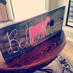 Cattle sign, whether it be of the the children's name or the family's last name, this is perfect to hang in the home!