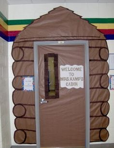 Camping Themed Classrooms: outside the door.  so cute!