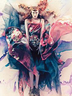 Karen Elson by Craig McDean … Tabitha Simmons (style) … A Pure Wonder, Vogue Italia, March 2008 …