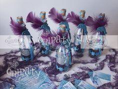 Invitaciones en botella para 15 Años con temática Fantasía Marina