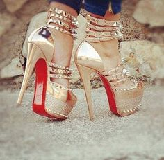 louboutin isolde sky-high - i have them in gold  black