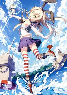 KanColle: Shimakaze by kantoku #anime #illustration