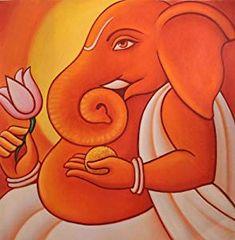 Ganesha Drawing, Ganesha Painting, Ganesha Art, Lord Ganesha, Ganesh Rangoli, Ganesh Tattoo, Shri Ganesh, Sanskar Bharti Rangoli Designs, Indian Arts And Crafts