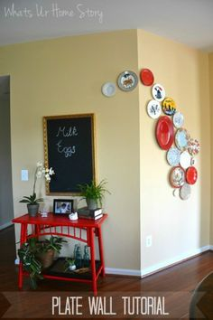 Decorative plate wall Tutorial with step by step instructions  www.whatsurhomestory.com