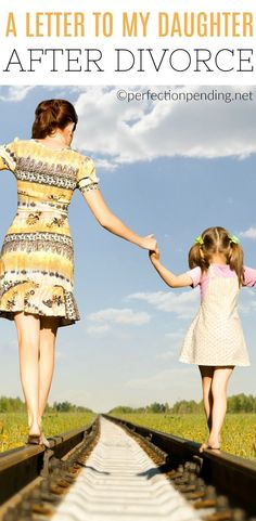 Talking to kids about divorce isn't easy. It's a difficult transition for any family. Life after divorce can be difficult, especially when children are involved. This mom's open letter to her daughter about surviving divorce is an inspirational look at the strength it takes to be a parent through such a difficult time. #divorce #parenting #ParentingDivorce