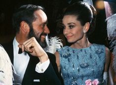 My Fair Lady premiere, Audrey and her husband Mel Ferrer