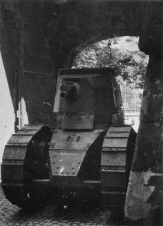French light tank Renault FT 17 Belfort this is probably one of the artillary versions