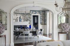 Lee Ann Thornton Design. Love the color scheme, the wall paper, mirrors