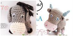 schemi-bue-asinello-presepe-uncinetto Pebble Art, Christmas Time, Christmas Ideas, Dinosaur Stuffed Animal, Crochet Hats, Product Launch, Cartoon, Knitting, Toys