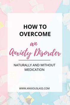 I share the methods that I used to overcome an anxiety disorder naturally, without medication and how I manage my everyday anxiety. Health Anxiety, Anxiety Tips, Anxiety Help, Stress And Anxiety, Overcoming Anxiety, Mental Health, Women's Health, Health Tips, Health