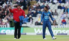 Non-striker Jos Buttler was run out by bowler Sachithra Senanayake during England's innings of 219 all out