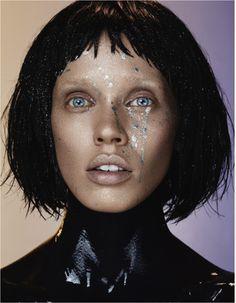 Model Lauren  Brie Harding for Glassbook Magazine. Make up by Kate Mur, Hair by Bennett Grey, Photographer Osvaldo Ponton