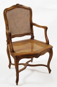 Nice Regency Arm Chair, Fruitwood Finish By The French Market Collection.