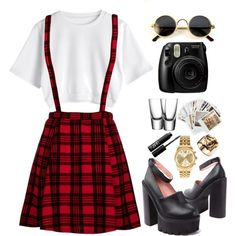 """""""Plaid"""" by emmydee on Polyvore"""